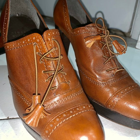 Stuart Weitzman Shoes - STUART WEITZMAN BROWN LACE OXFORDS